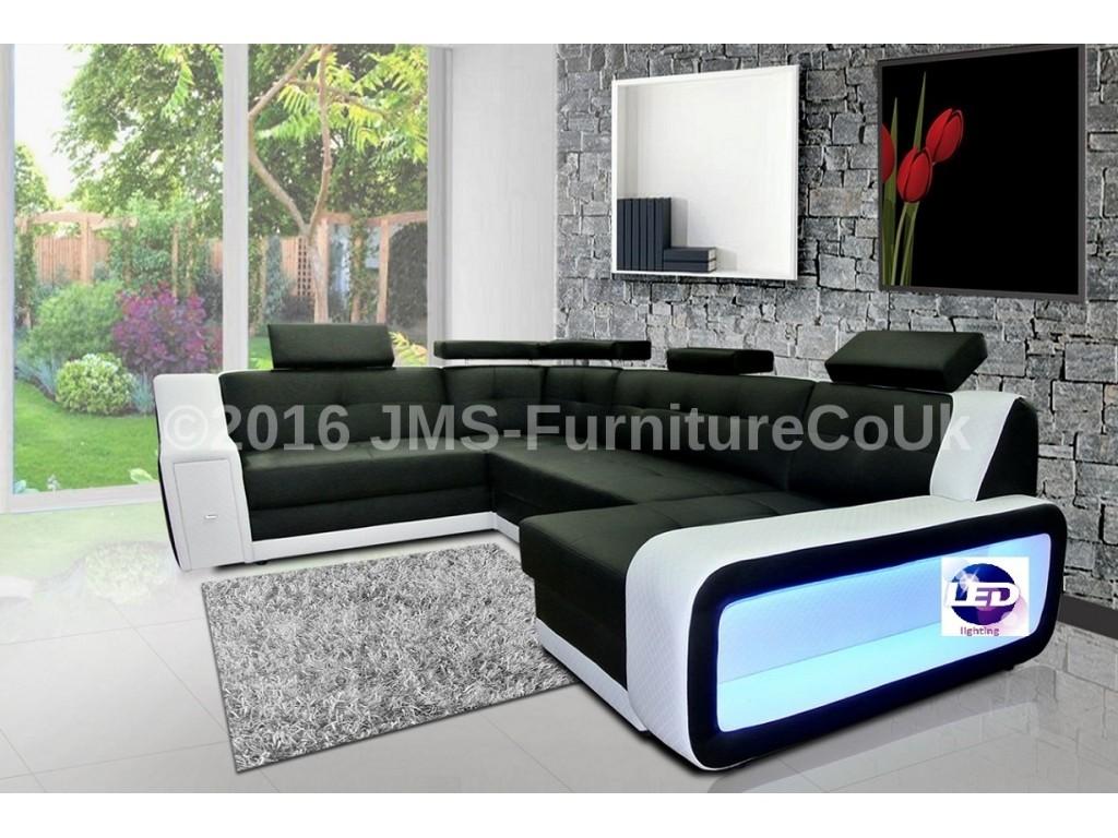 Corner sofa bed with LED lights JMS Furniture