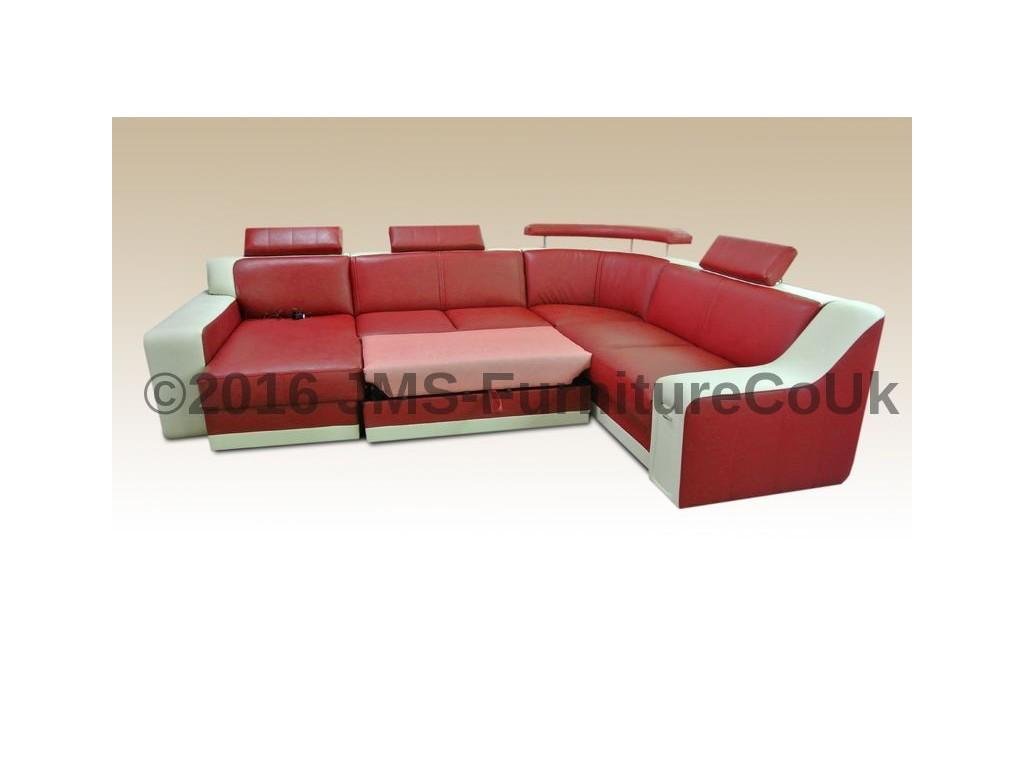corner sofa bed kayene 1 with led lighting delivery 1 3 weeks ebay. Black Bedroom Furniture Sets. Home Design Ideas